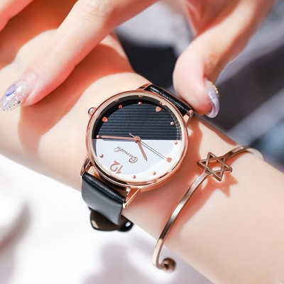 Genuine 2020 new small fresh and simple temperament watch women's famous brand ins wind middle school students Korean version of waterproof