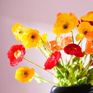 Моделирование мак цветки цветочный филиал Ю красота Поддельный цветок гостиная шелковый цветок свежий высококачественных цветок гостиная вход украшение