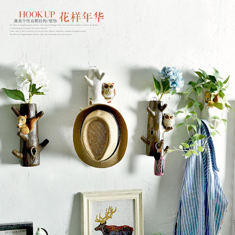 美式创意门口玄关试衣间挂钩花插花器个性壁挂钥匙架装饰衣帽钩