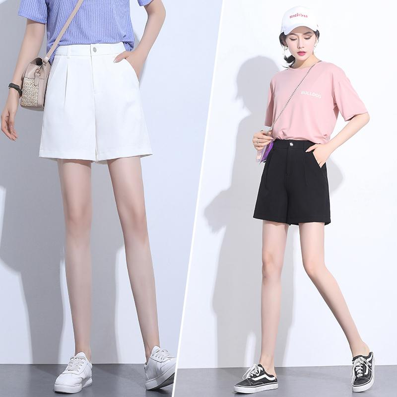 短裤白色女夏高腰宽松韩版外穿五分裤2019新款a字显瘦薄款阔腿裤
