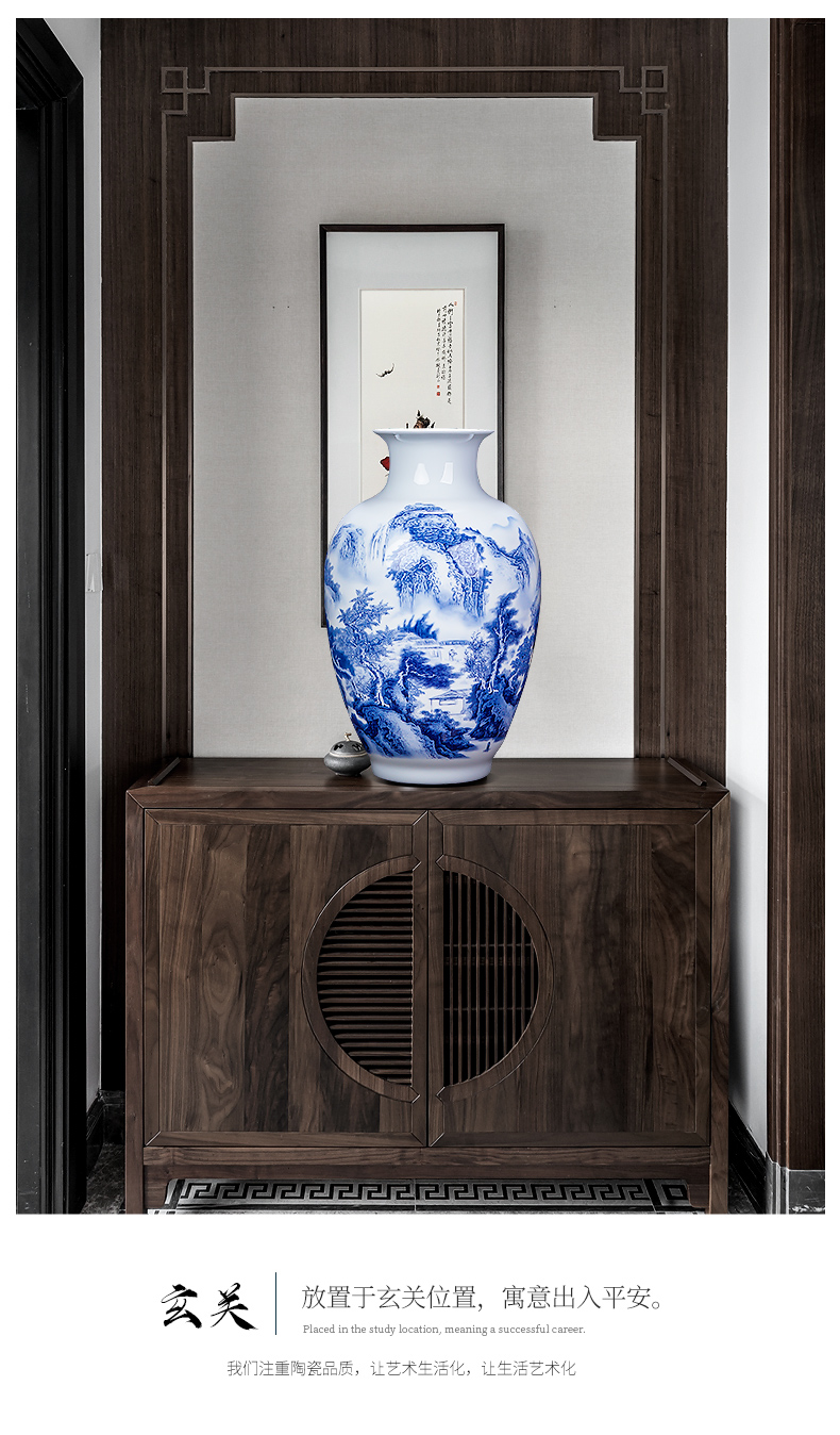The Master of jingdezhen ceramic hand - made thin foetus porcelain vase of blue and white porcelain flower arranging rich ancient frame sitting room of Chinese style household furnishing articles