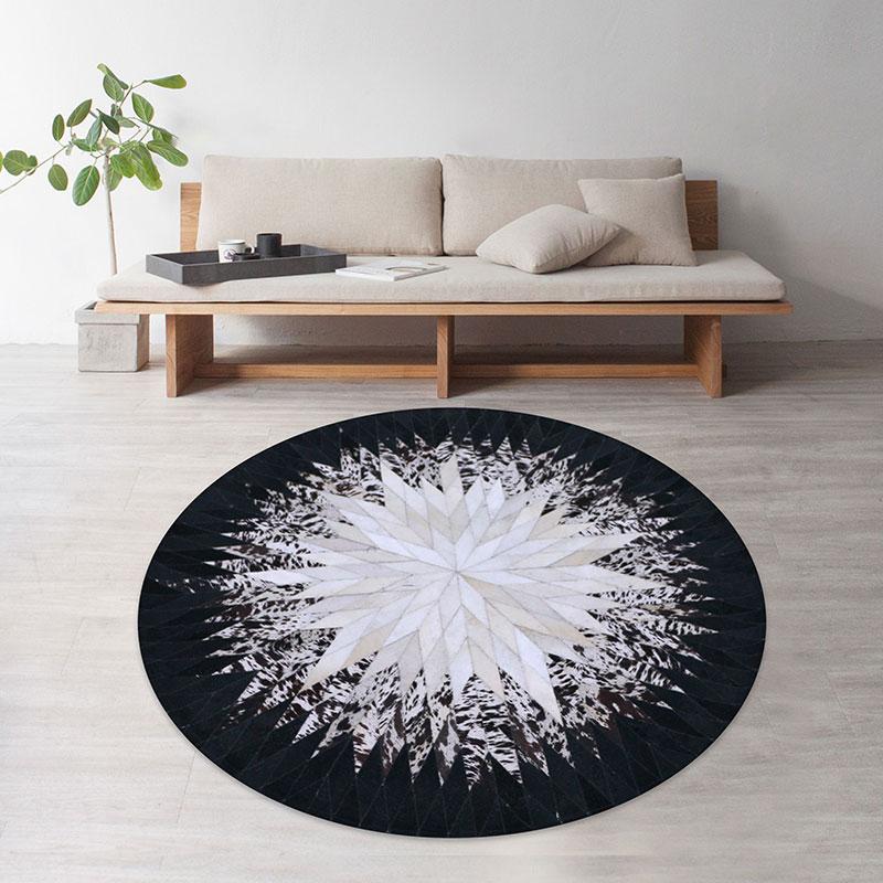 地毯牛皮卧室高端现代转椅椅垫垫书房茶几吊圆形子电脑椅客厅垫