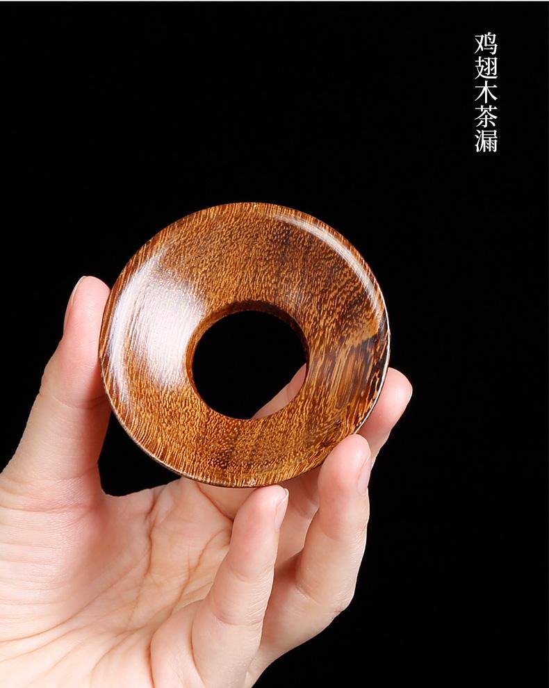 Kung fu tea set 6 gentleman accessories wood ebony tea the receive coarse pottery drum tea art ChaGa teaspoons combination suit