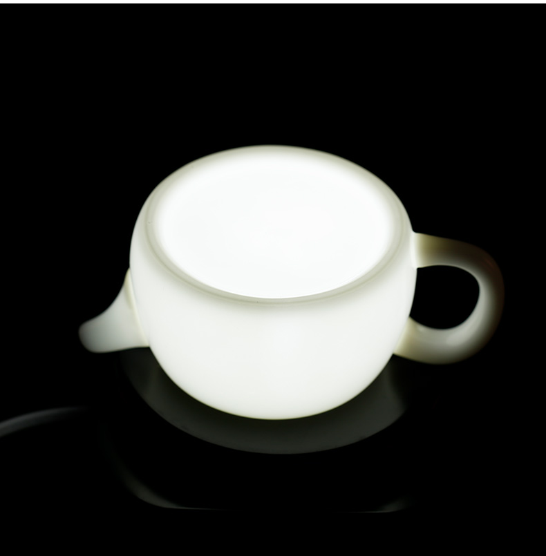 Tea seed high - white little teapot household pure manual kung fu Tea set with simple filter is bamboo pot pot of ceramics