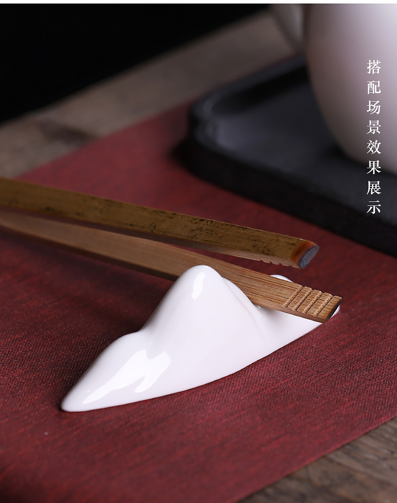 Tea wang dehua white porcelain small place study creative decorations sitting room Tea table four treasures paperweight brushes