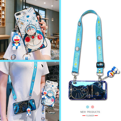 Apple 12 mobile phone shell Messenger back iPhone11 female Apple se Apple 11max mobile phone set 11maxpro cartoon cute 12PRO strap eleven back-packaged 12mini lanyard new