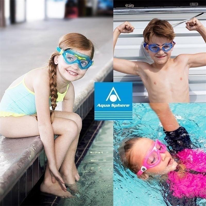 aquasphere游泳眼镜儿童防水防雾泳镜女童男童专业大框进口高清