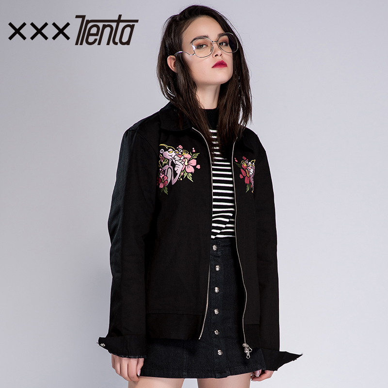 XXXTRENTA CHARMSSEOUL Black Jacket Women's 2020 Spring New Korean Edition Loose Jacket Ins Tide