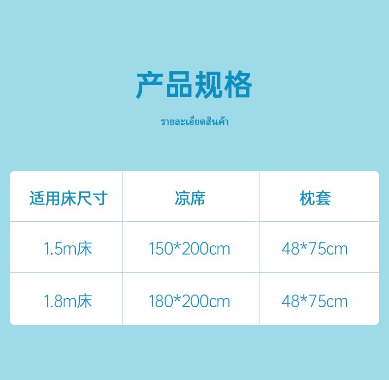 泰国进口 nittaya 云母冰丝系列 乳胶凉席三件套 1.5m/1.8m 图4