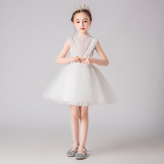 Girl's Birthday Dress princess skirt children's wedding dress pengpeng gauze flower children's wedding little girl's piano performance dress foreign style