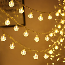 led small lights flashing lights string lights starry crystal ball lights net red room decoration bedroom decoration lights star lights