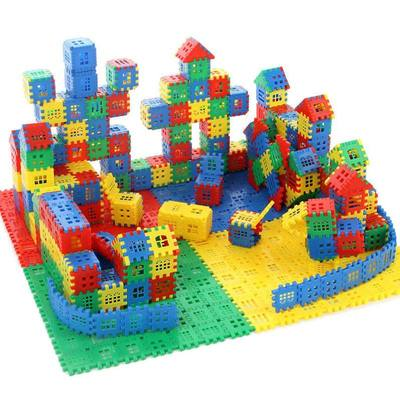 Children's plastic blocks 1 toys 2 benefits 3 assembled 6 spell inserted 4 square 7 boy 8 development 10 years old house 9