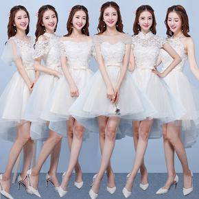 Подружка невесты одежда краткое модель 2019 новый лето корейский шампанское подружка невесты группа сестры юбка платья полный промышленность небольшой церемонии женская одежда, цена 1193 руб