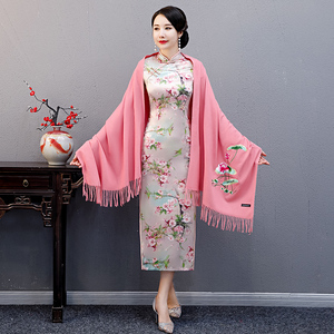 Chinese Dress Qipao for women Cashmere shawl, scarf, Cape, spring and summer