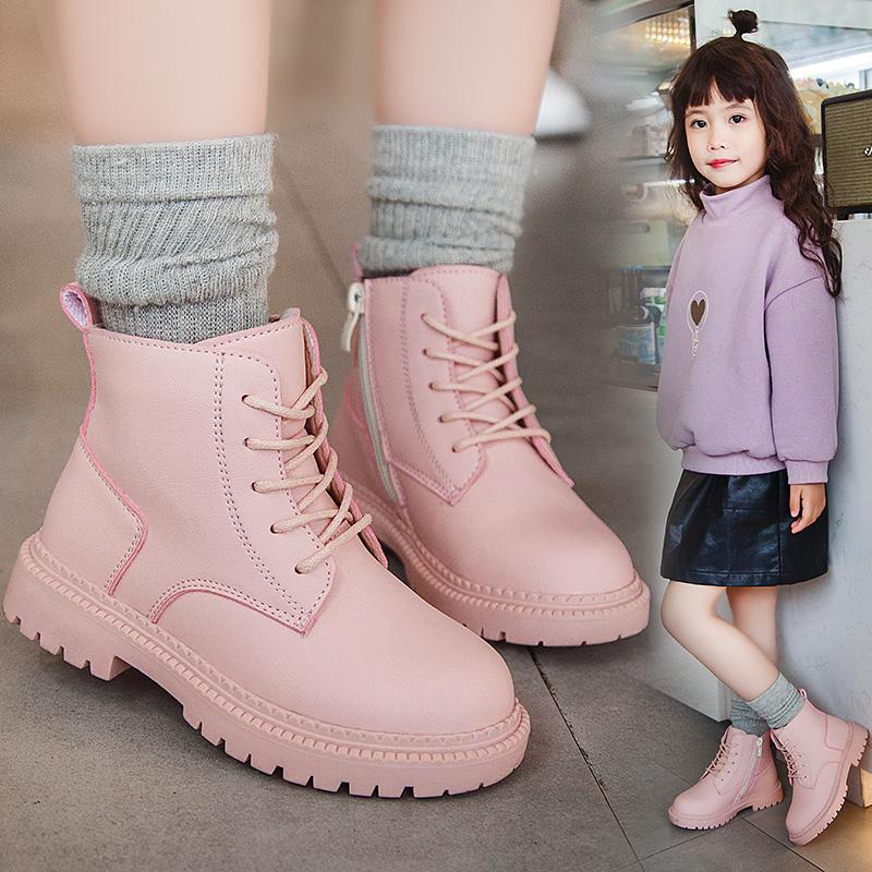 女童马丁靴2020秋冬新款皮面靴子
