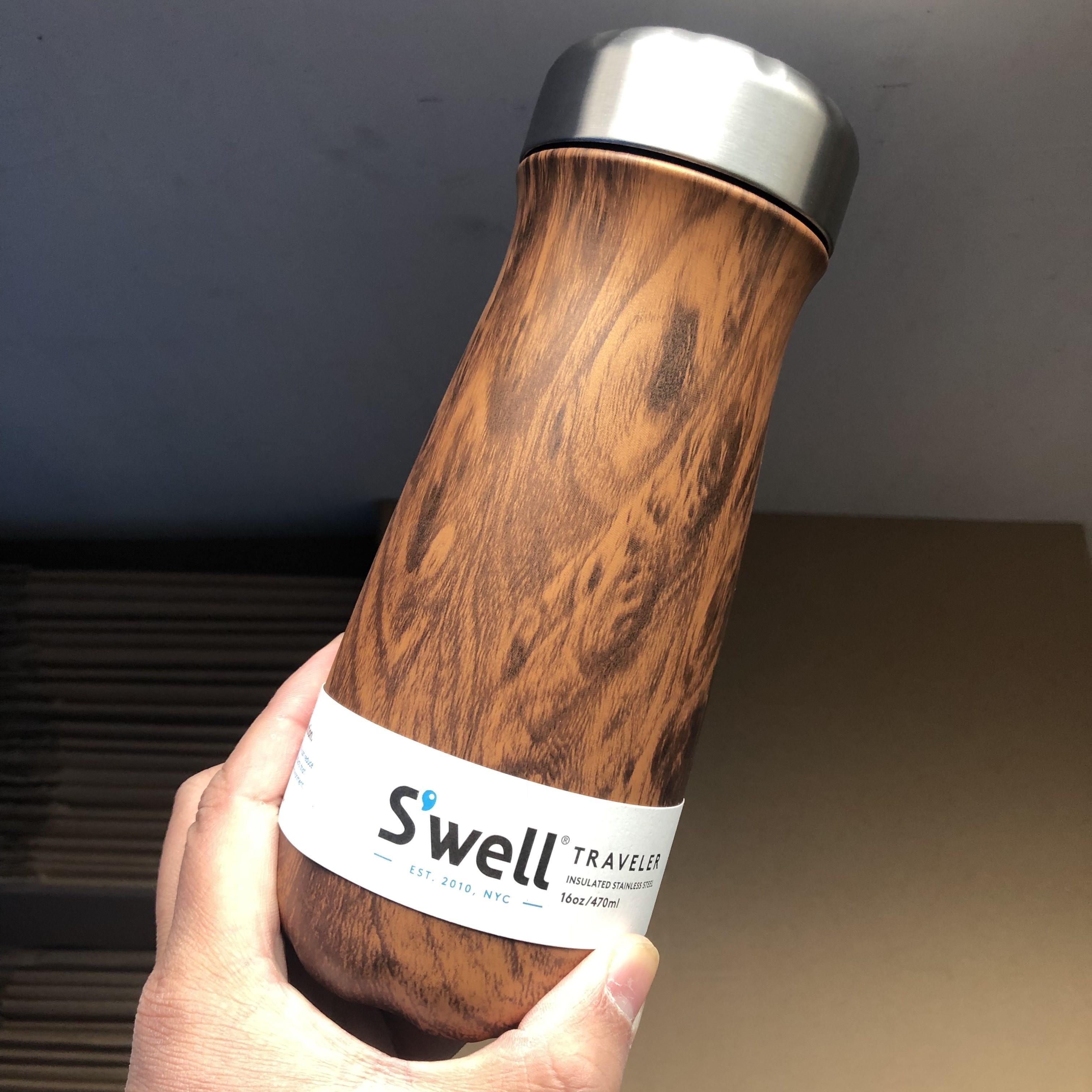 美国Swell保温杯traveler宽口大肚杯旅行杯子水杯保温保冷 微瑕
