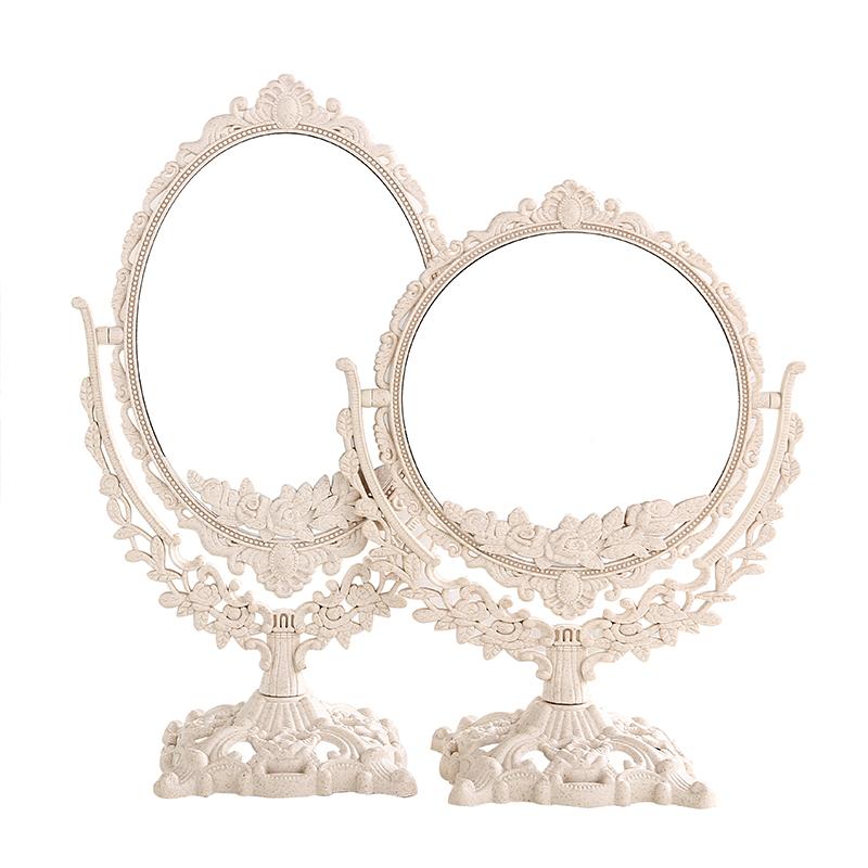台式道具珠宝店柜台双面v台式首饰佩戴平镜摆镜子化妆镜展示看货镜