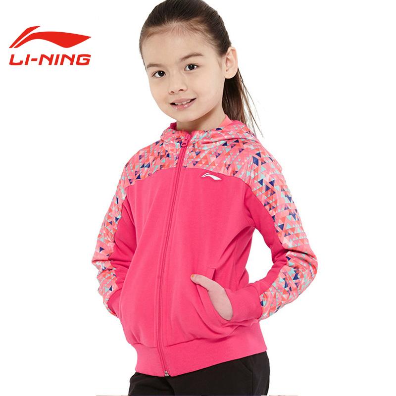 李宁童装女童卫衣2020春季新款7-12岁中大童儿童卫衣长袖外套女