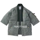 Original national tide jacket road robe kimono cotton down jacket male Shawn Yue loose jacket non-visvim dcdt