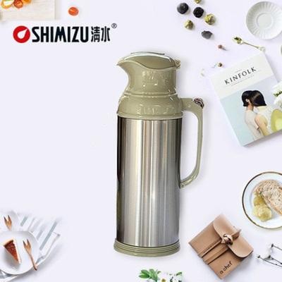 清水家用热水瓶不锈钢保温瓶5磅保温壶大容量8P暖瓶玻璃开水瓶3.2