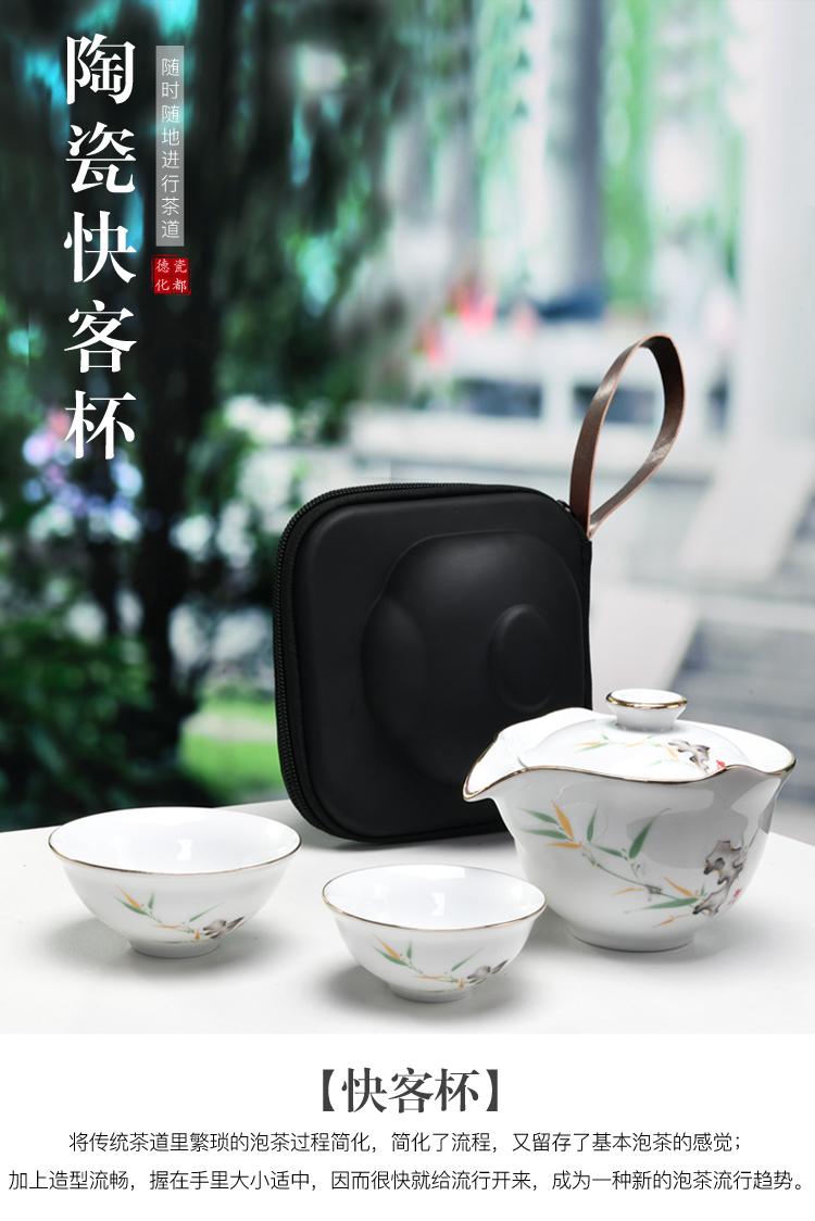 夏洁防烫三才盖碗茶杯大号单个陶瓷功夫竞技宝app苹果官方下载泡茶碗手抓壶青花白瓷