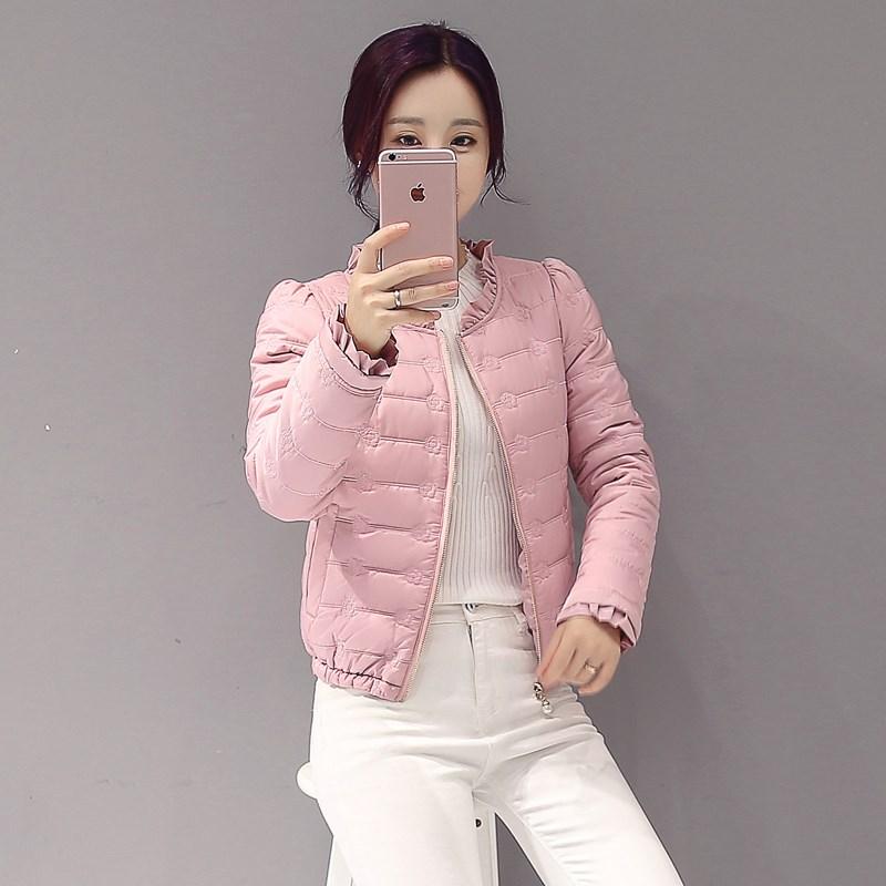 2018新款时装女韩版薄淑女冬装棉袄可爱小棉衣学生棉服短外套潮