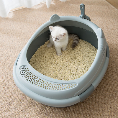Cat sandbasin semi-closed super special large anti-abroad splashing odor cat toilet eaten cat basin small sand pot cat supplies