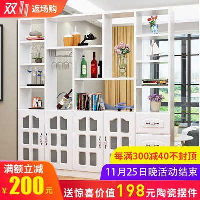 Living room entrance hallway partition shoe cabinet modern minimalist entrance hall cabinet decoration restaurant screen rack wine cabinet