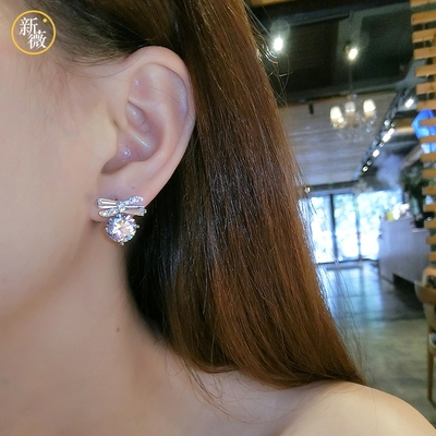 1862ab1b81010 Xinwei fashion color earring personality sweet artificial crystal ...