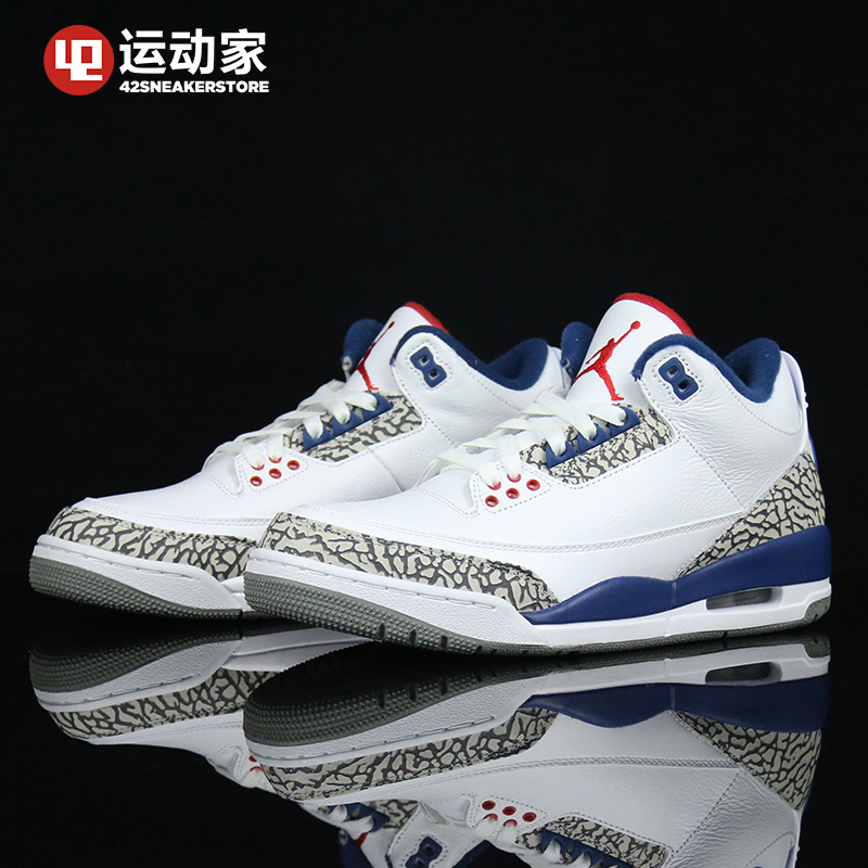 timeless design f63e3 fd67b 42运动家】Air Jordan 3 OG AJ3 白蓝 854261 854262-106 - SGshop