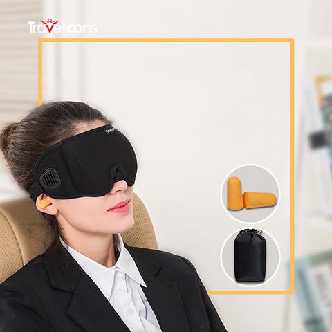 遮光眼罩缓解眼疲劳3D立体透气男女睡觉眼罩耳塞防噪音三件套