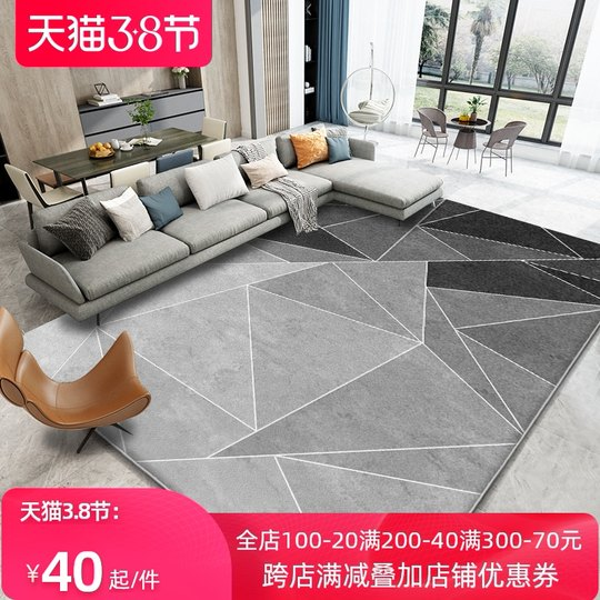 Northern European modern minimalist carpet living room sofa tea serial mats gray bedroom room large-scale home free washing