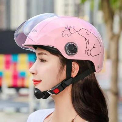 电动车头盔夏季防晒哈雷可爱网红男女电瓶摩托车四季安全帽