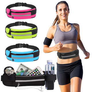 Water bottle waist bag outdoor sports waist bag fitness running waist bag waterproof anti-theft mobile phone waist bag close riding