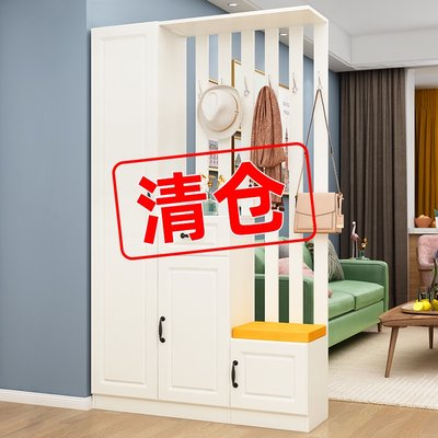 Simple and modern entrance porch cabinet shoe cabinet one-in-one household screen living room room hall cabinet light luxury double-sided partition wine cabinet