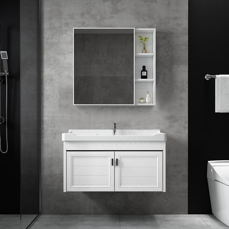太空铝浴室柜现代简约小户型洗脸盆台面卫生间洗手盆柜组合洗漱台