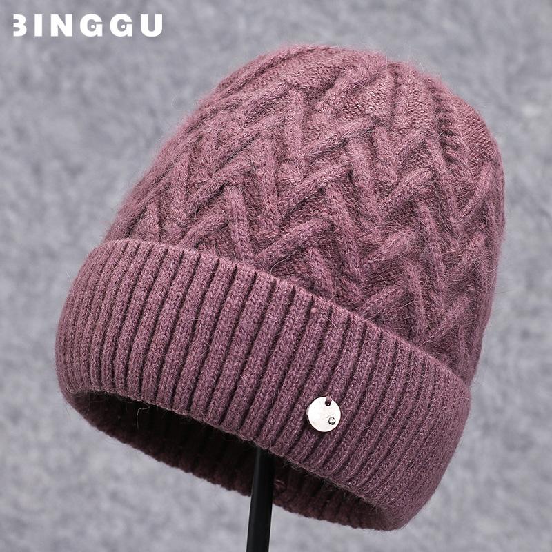 老人帽子女冬天针织毛线帽加绒保暖妈妈婆婆帽秋冬季中老年人奶奶