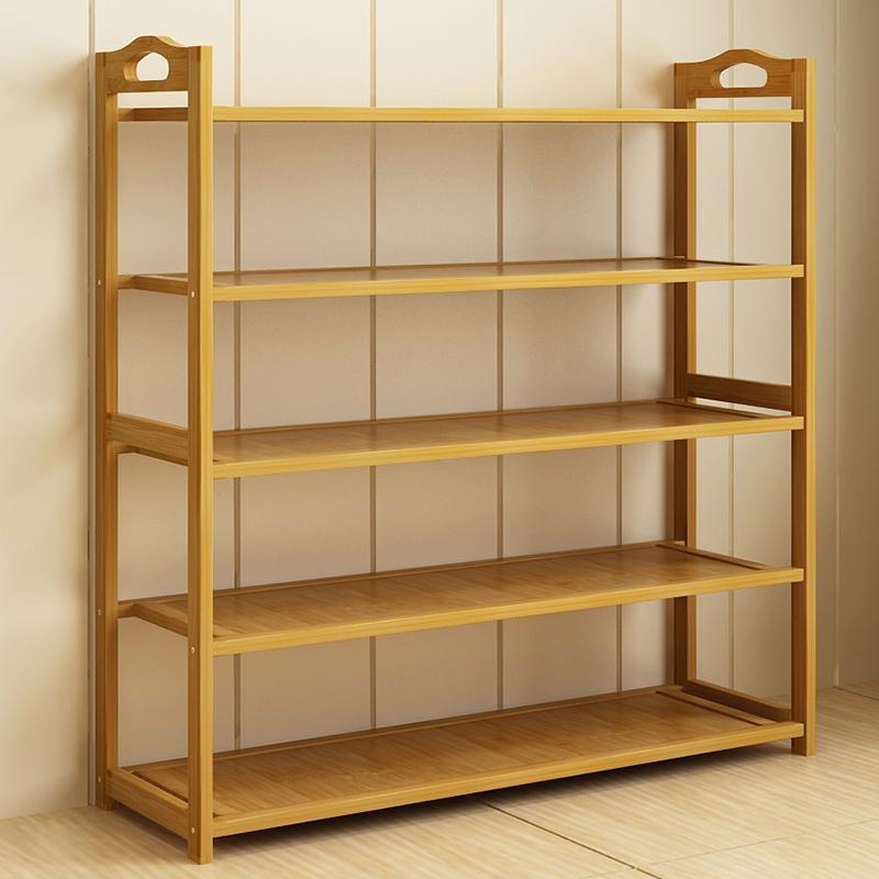 门厅无味玄关门口鞋柜透气简约现代家用楠竹多功能通风鞋架储物柜