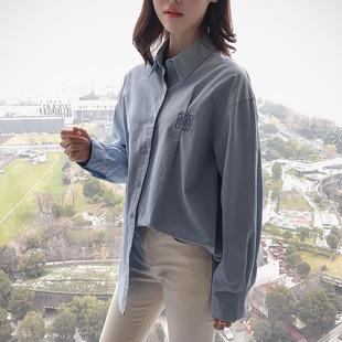 白衬衫女长袖宽松韩版学生百搭