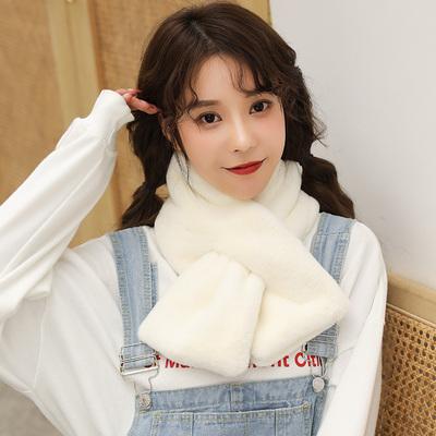 【今年超火噠!】韓版可愛毛絨純色圍脖圍巾