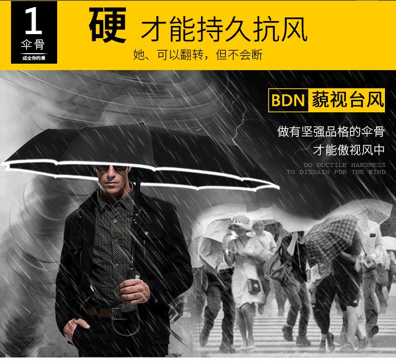 全自动雨伞男折叠遮阳黑胶防晒大号双人女晴雨两用防紫外线太阳伞