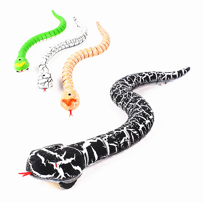 Electronic Pets Realistic Whole Person Horror Simulation Snake Crawling Cobra Fake Infrared Remote Control Electronic Pet Halloween Spoof Toy