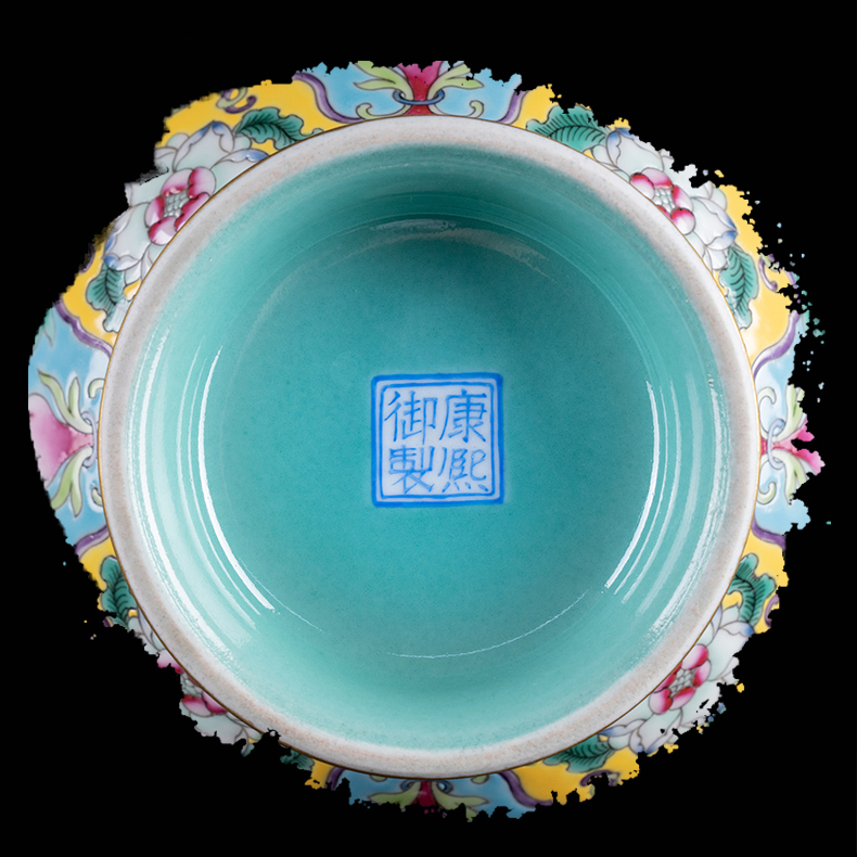 Ning hand - made antique vase seal up with jingdezhen ceramic bottle vase peony grains okho spring bottle furnishing articles to the living room