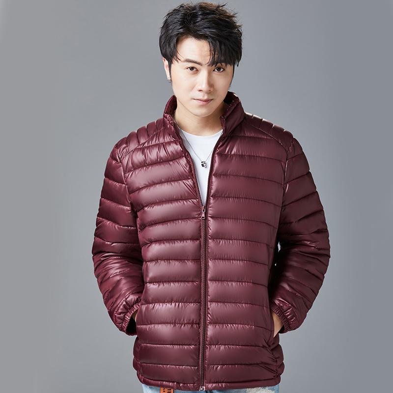 反季节特卖超薄轻薄便携短款男士薄款中年爸爸返季羽绒返季棉服