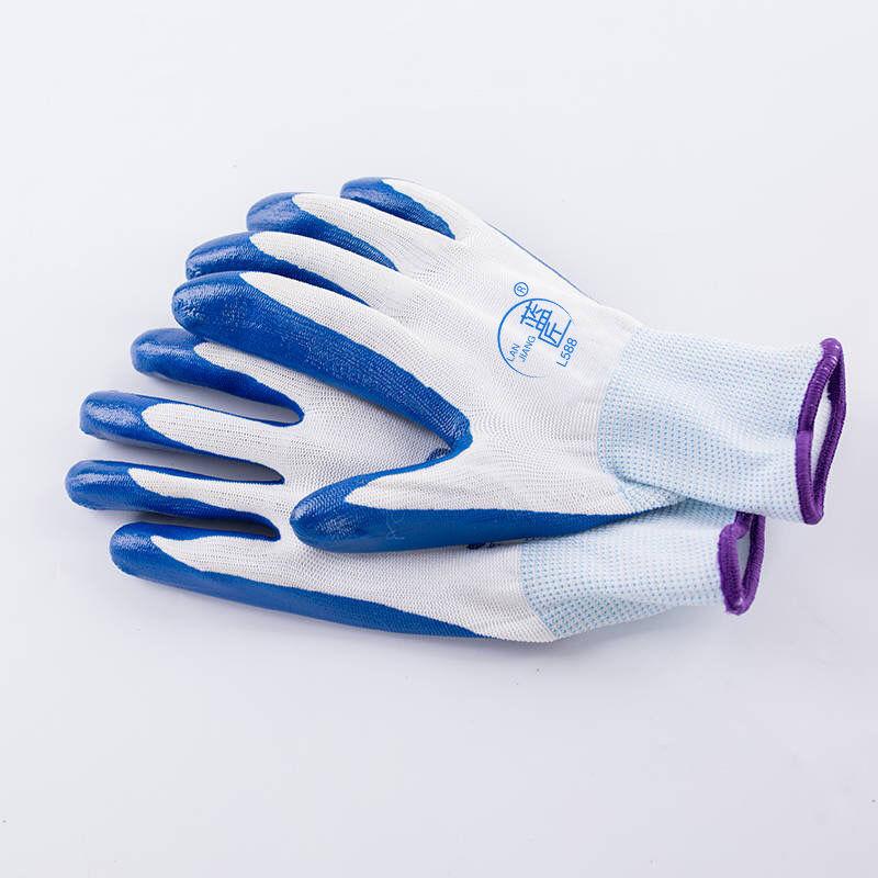 带胶橡胶工地胶手套加厚胶皮工作劳保耐磨