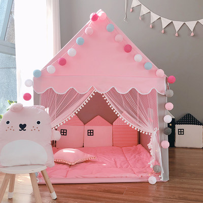 Children's tent interior game house girl boy sleeping bed artifact princess castle home small house