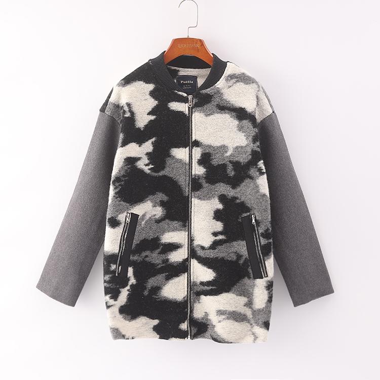 [Kéo] Áo khoác nữ giảm giá mùa đông phiên bản Hàn Quốc mới của áo khoác len khâu lỏng lẻo 3C003 - Áo khoác ngắn