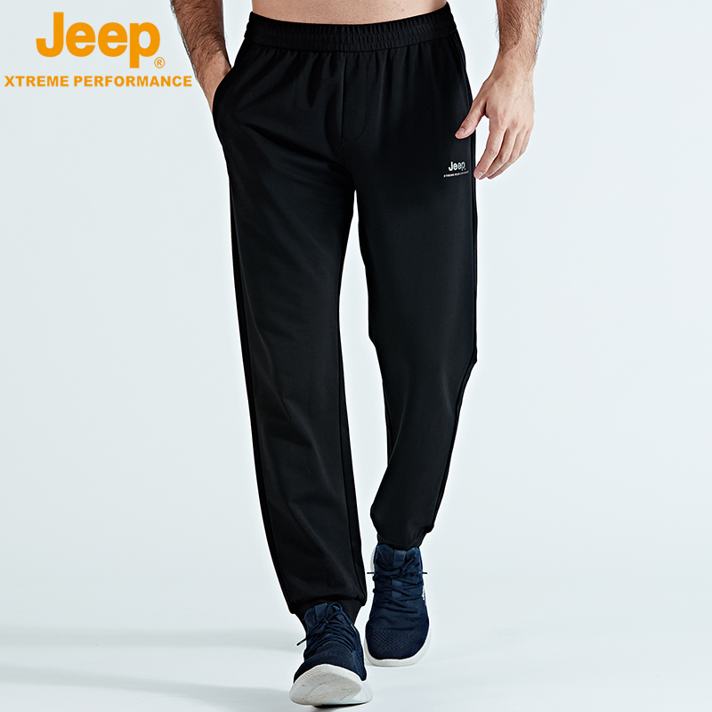 jeep flag 艦 shop official genuine jeep men knitting trend set-up trousers thigh-skimming loose tight belt pants