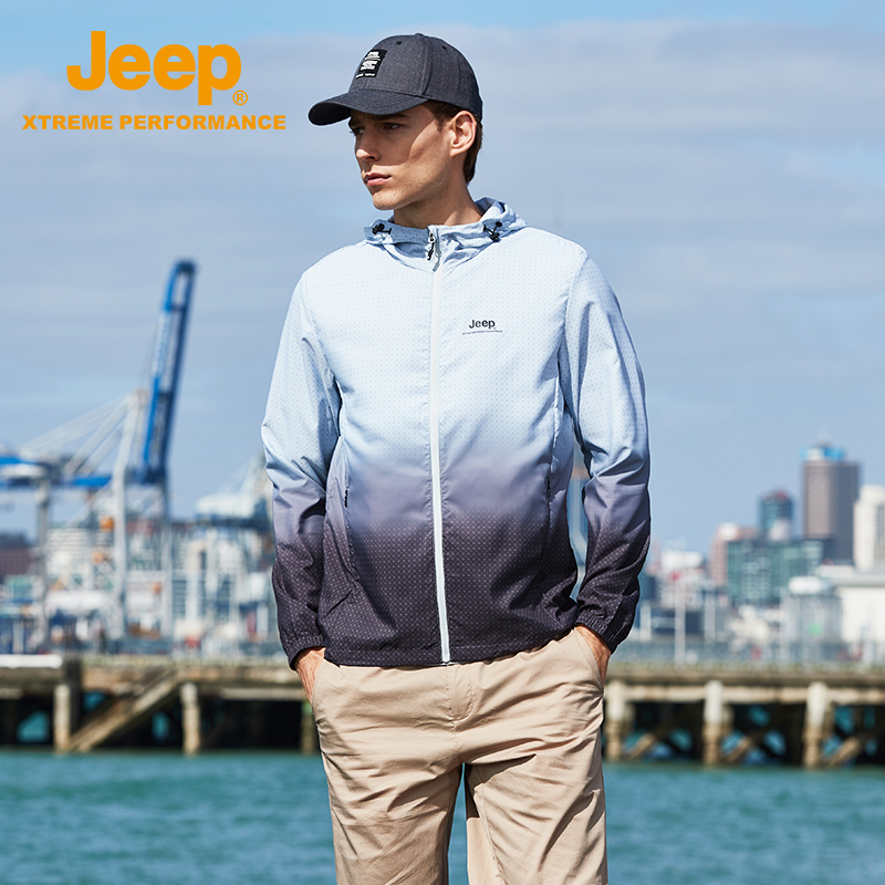 jeep flag shop official genuine Jeep spring and summer outdoor sun protection clothing breathable light fishing skin shirt sportswear
