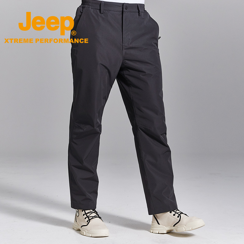jeep flagship store official authentic Jeep outdoor assault pants men windproof waterproof plus velvet thick warm hiking pants